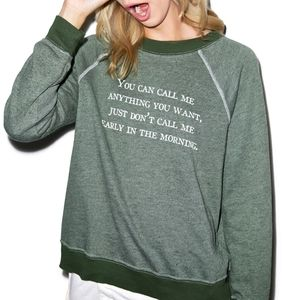 WILDFOX   Green Early Morning Sweatshirt